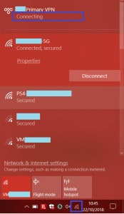 VPN connections hang in Connecting