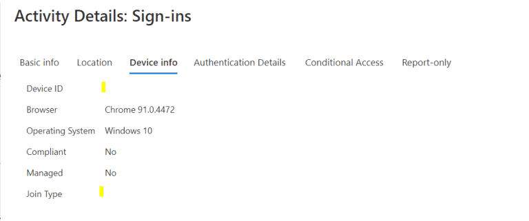 Azure AD Device ID Missing