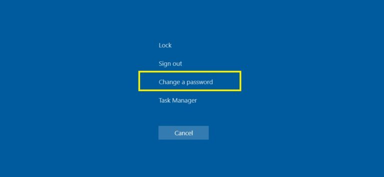 Change your password when in an RDP session